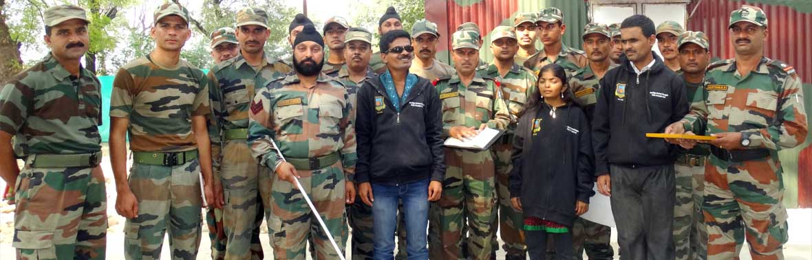 With Indian Jawans